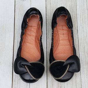 See By Chloe Ballet Flats Bow Womens Zipper Twist